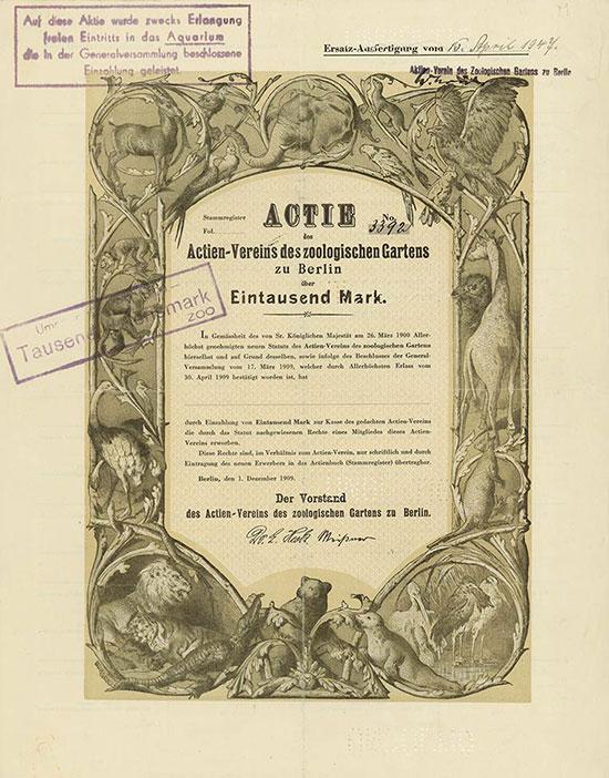 Actien-Verein des zoologischen Gartens zu Berlin