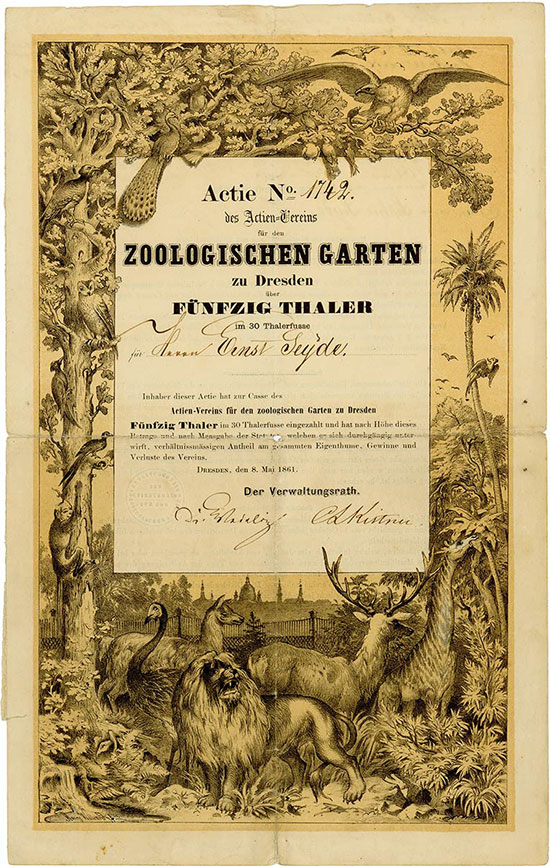 Actien-Verein für den zoologischen Garten zu Dresden