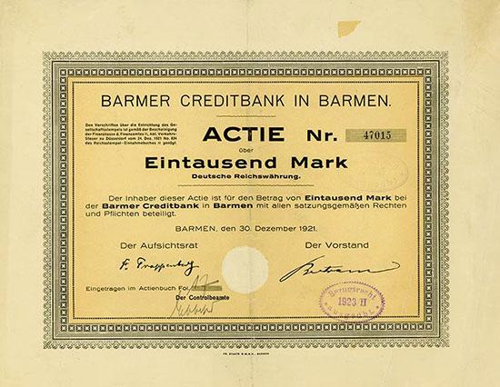 Barmer Creditbank in Barmen