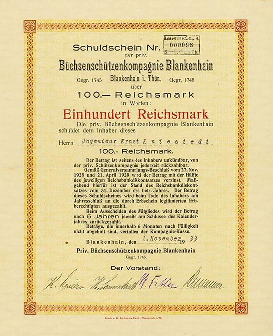 Büchsenschützenkompagnie Blankenhain