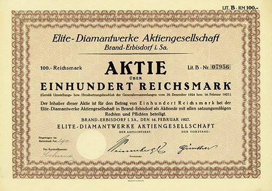 Elite-Diamantwerke AG