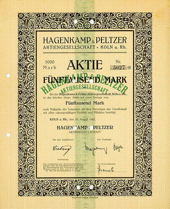 Hagenkamp & Peltzer AG