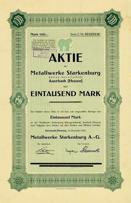Metallwerke Starkenburg A.-G.