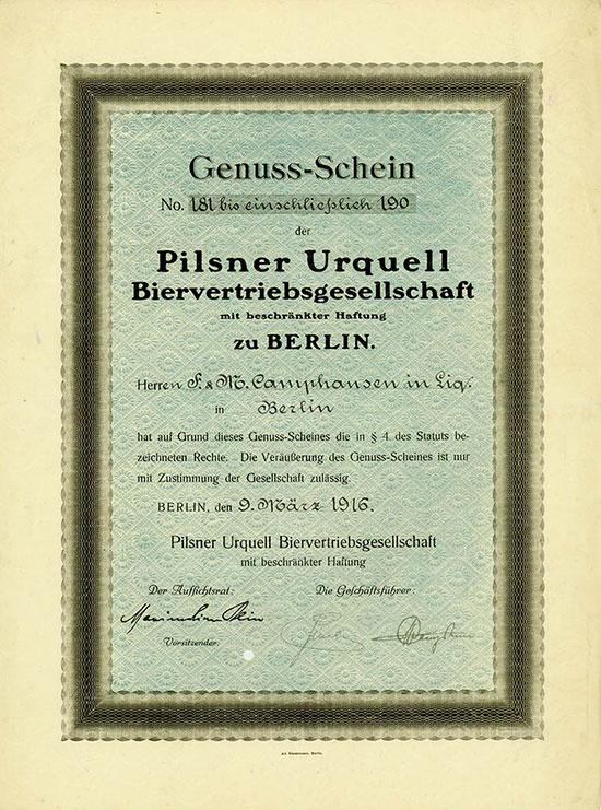 Pilsner Urquell Biervertriebsgesellschaft mbH
