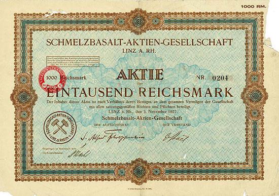 Schmelzbasalt-AG