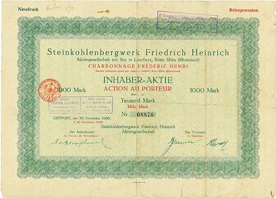 Steinkohlenbergwerk Friedrich Heinrich AG