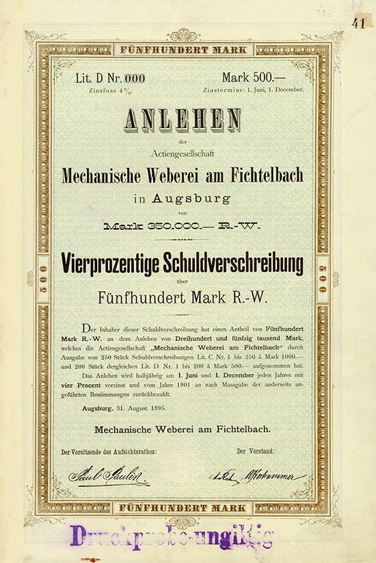 Mechanische Weberei am Fichtelbach