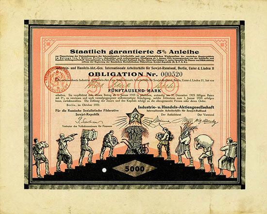 Industrie- und Handels-Aktiengesellschaft Internationale Arbeiterhilfe für Sowjet-Russland