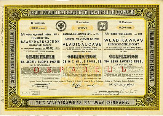 Wladikawkas Eisenbahn-Gesellschaft / Société du Chemin de Fer de Vladicaucase