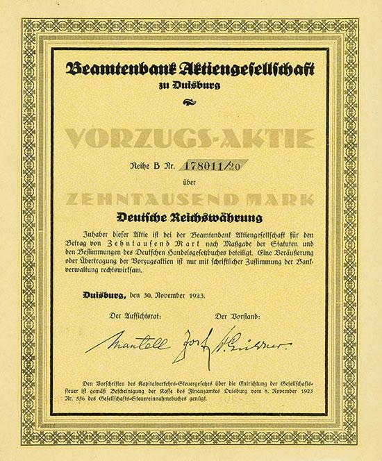 Beamtenbank AG