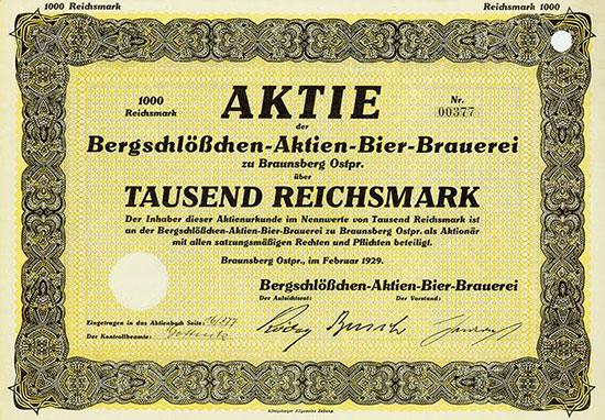 Bergschlößchen-Aktien-Bier-Brauerei