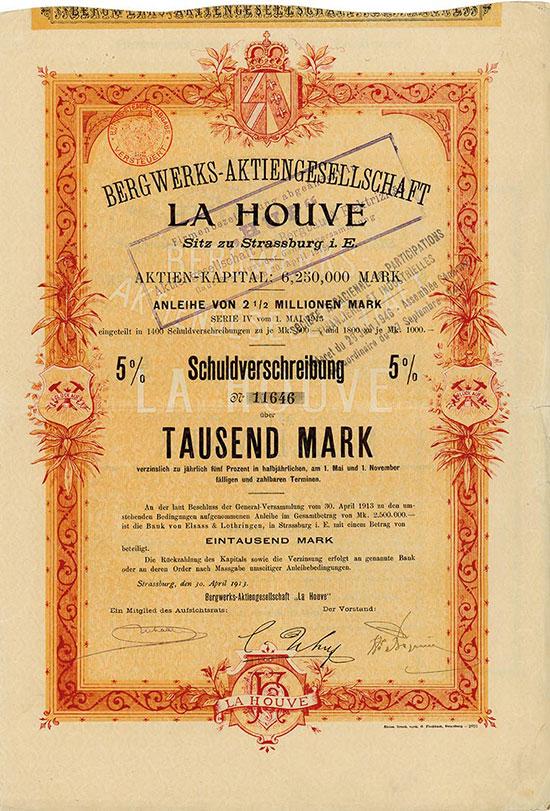 Bergwerks-Aktiengesellschaft LA HOUVE / Société des Mines de La Houve
