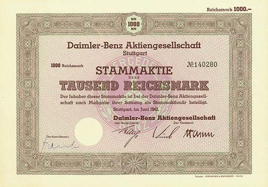 Daimler-Benz AG [2 Stück]
