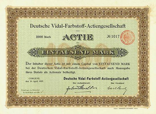 Deutsche Vidal-Farbstoff-AG