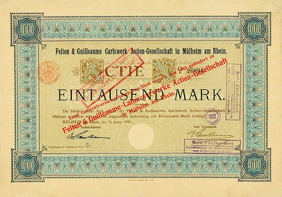 Felten & Guilleaume Carlswerk AG