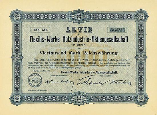 Flexilis-Werke Holzindustrie-AG