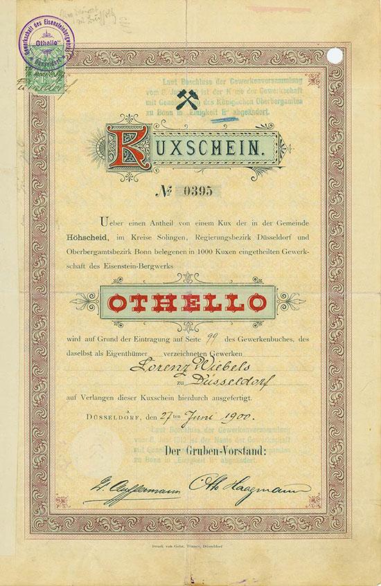 Gewerkschaft des Eisenstein-Bergwerkes Othello