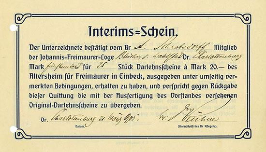 Johannis-Freimaurer-Loge Blücher von Wahlstadt Or. Charlottenburg