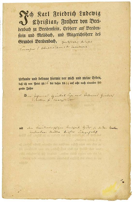 Karl Friedrich Ludewig Christian, Freiherr von Breidenbach zu Breidenstein