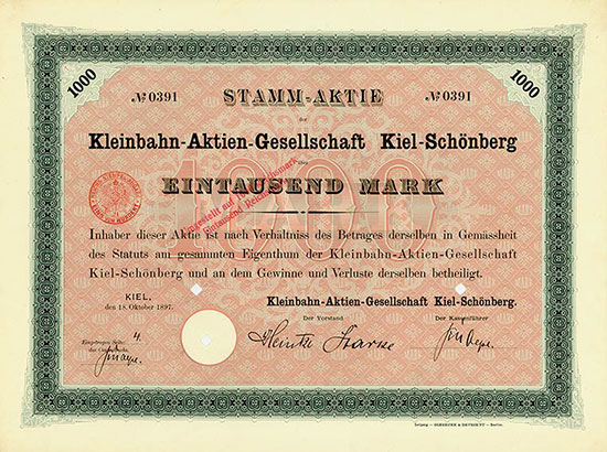 Kleinbahn-Aktien-Gesellschaft Kiel-Schönberg
