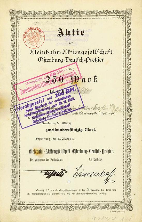 Kleinbahn-Aktiengesellschaft Osterburg-Deutsch-Pretzier