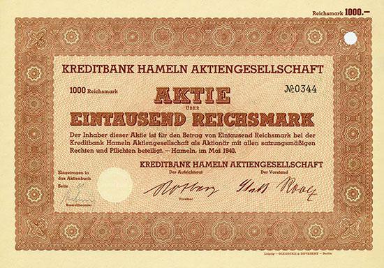 Kreditbank Hameln AG