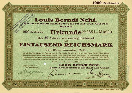 Louis Berndt Nchf. Bank-KGaA