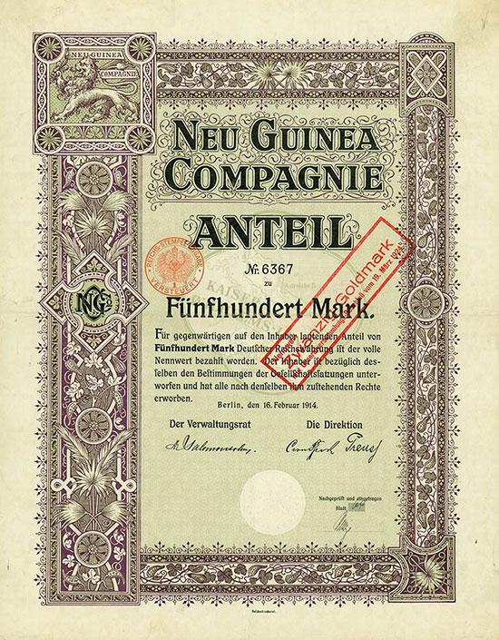 Neu Guinea Compagnie