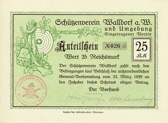 Schützenverein Walldorf a. W. und Umgebung eingetragener Verein