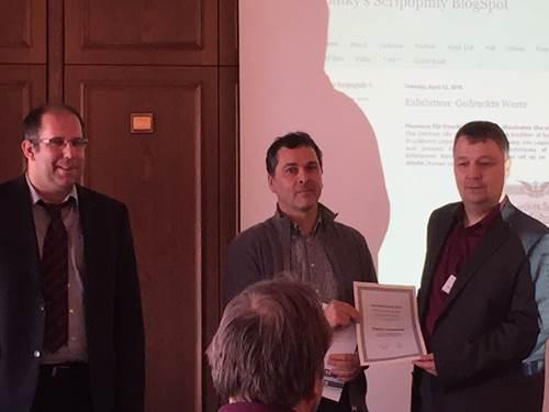 Verleihung des Journalistenpreises für Historische Wertpapiere und Finanzgeschichte