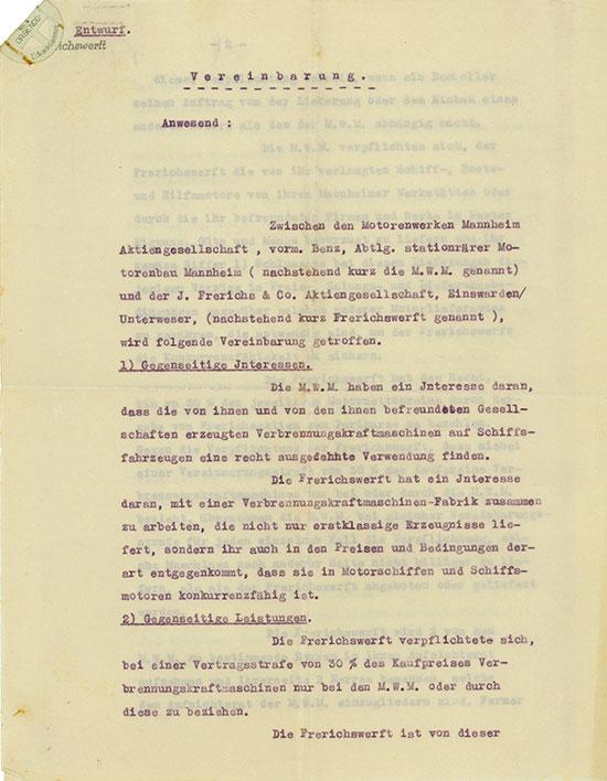 Motorenwerke Mannheim / J. Frerichs & Co. AG