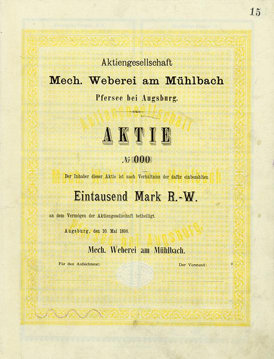 Aktiengesellschaft Mech. Weberei am Mühlbach