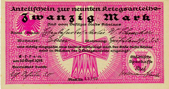 Städtische Sparkasse Essen - 9. Kriegsanleihe