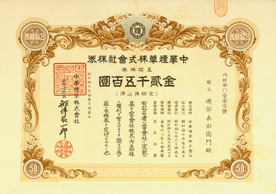 China Tobacco Co. Ltd.