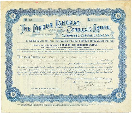 London Langkat Syndicate Limited