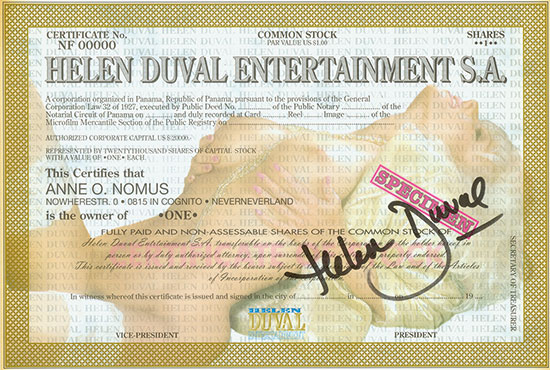 Helen Duval Entertainment S.A.