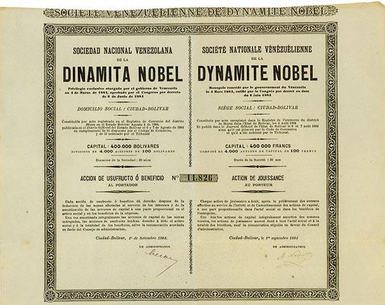 Sociedad Nacional Venezolana de la Dinamita Nobel / Société Nationale Vénézuélienne de la Dynamite Nobel