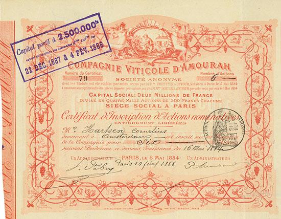 Compagnie Viticole d'Amourah Société Anonyme