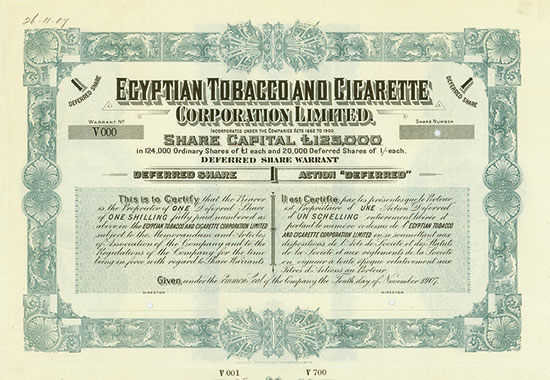Egyptian Tobacco and Cigarette Corporation Limited