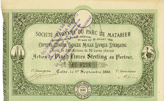 Société Anonyme du Parc de Matarieh