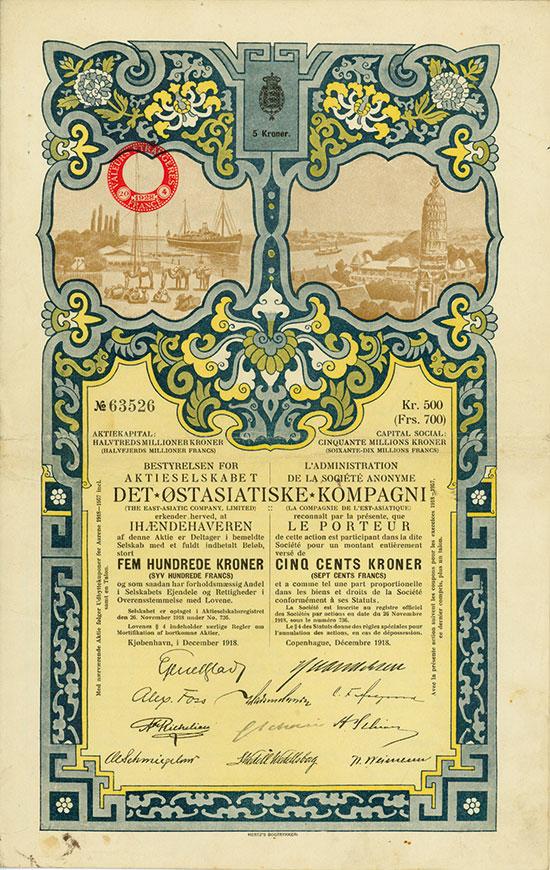 Aktieselskabet Det Ostasiatiske Kompagnie / Société Anonyme det Ostasiatiske Kompagni