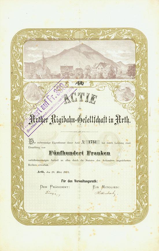 Arther Rigibahn-Gesellschaft in Arth