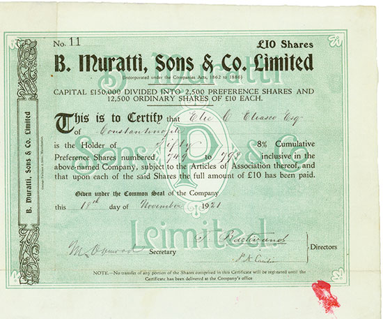 B. Muratti, Sons & Co. Limited