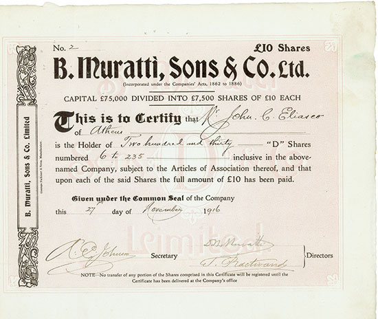 B. Muratti, Sons & Co. Ltd.