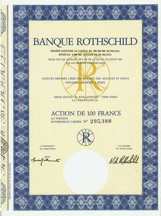 Banque Rothschild Société Anonyme