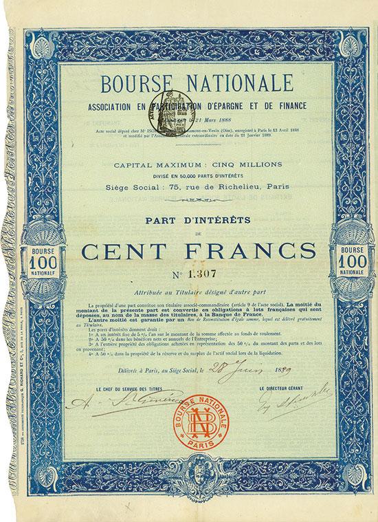 Bourse Nationale Association en Participation d'Épargne et de Finance
