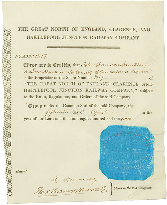 Great North of England, Clarence and Hartlepool Junction Railway Company