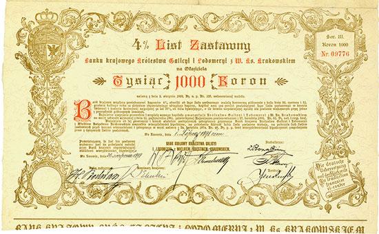 Landesbank des Königreiches Galizien und Lodomerien mit dem Grossherzogthume Krakau