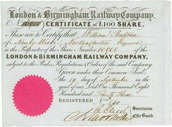 London & Birmingham Railway Company