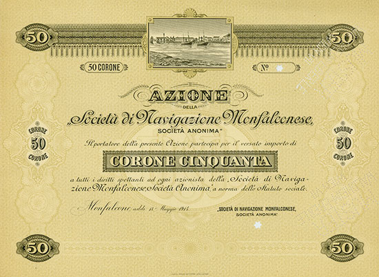 Società di Navigazione Monfalconese, Società Anonima